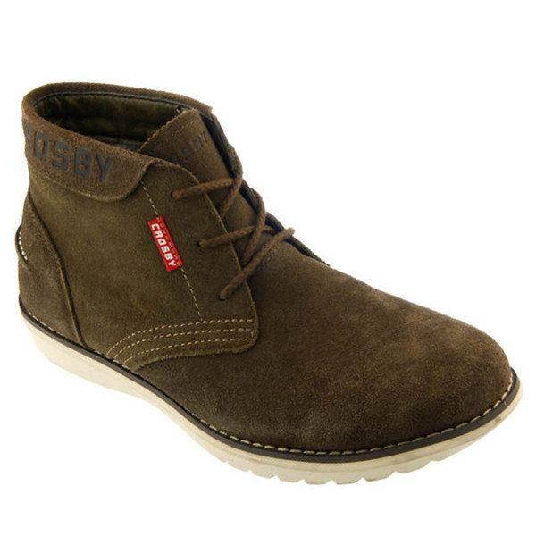 Pánské khaki kotníkové boty Crosby