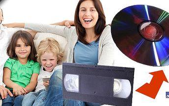 Převod záznamů z videokazet VHS, VHS-C, 8mm atd. na DVD disky! Uchovejte si vzácné životní události napořád a v nové podobě! DVD box v ceně!