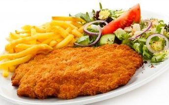 Obří ŽRANICE! 1000 g ŘÍZKŮ (kuřecí, vepřové, hovězí) a 1000 g PŘÍLOHY dle výběru.