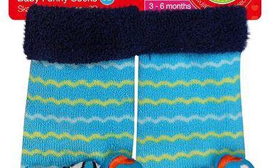 Nádherné kojenecké ponožky s chrastítkem želva