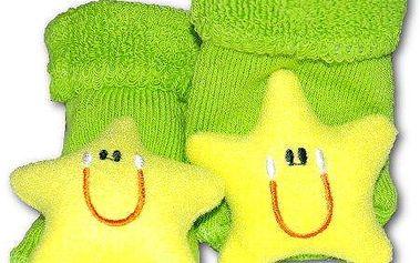 Dokonalé kojenecké ponožky s chrastítkem