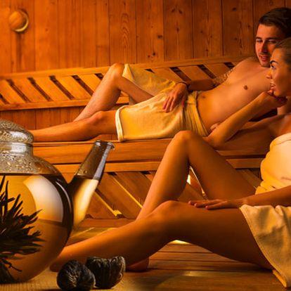Privátní finská sauna pro dva s odpočívárnou v solné jeskyni a kvetoucím čajem