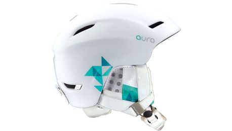Dámská helma Salomon oválného tvaru, vybavená Custom Air systémem