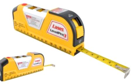 Laserová vodováha se svinovacím metrem
