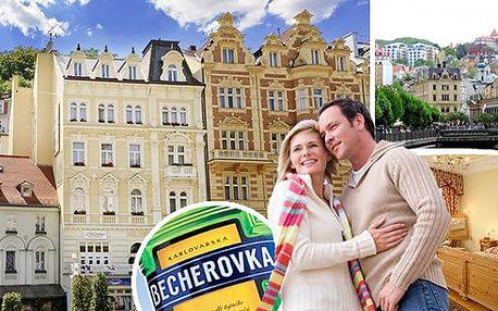 Lázně Karlovy Vary - pobyt ve stylovém hotelu Heluan**** pro 2 osoby se snídaněmi a vstupem do muzea karlovarské Becherovky včetně ochutnávky minimálně 3. druhů světoznámého likéru. Odpočiňte si v srdci světoznámého lázeňského města!