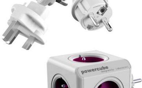 Zásuvka Powercube ReWirable + Travel Plugs bílá