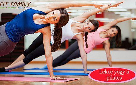 3 lekce yogy nebo pilates v privátním centru Fit Family
