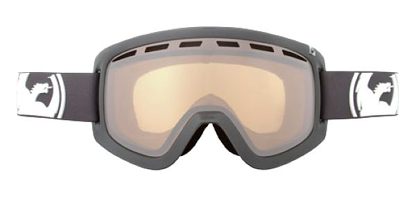 Perfektní snowboardové brýle Dragon D1 Solid Grey ionized + amber