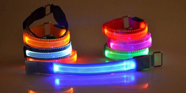 Svítící LED náramek Color - pro bezpečnou viditelnost!