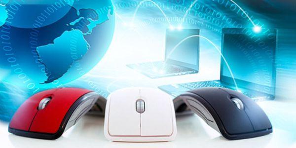 SKLÁDACÍ BEZDRÁTOVÁ MYŠ! POHODLNÁ do ruky, snadno SLOŽITELNÁ a PŘIPOJITELNÁ pomocí USB vysílače!
