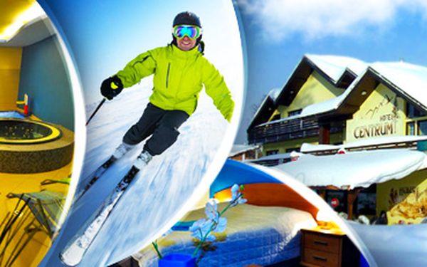 Lyžovačka a wellness v Harrachově. Hotel Centrum, 100 metrů od ski areálu!
