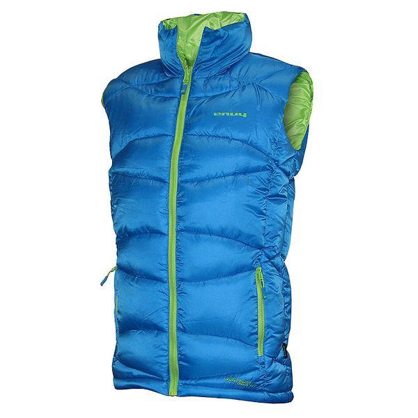 Pánská modrá oboustranná zateplená vesta Envy