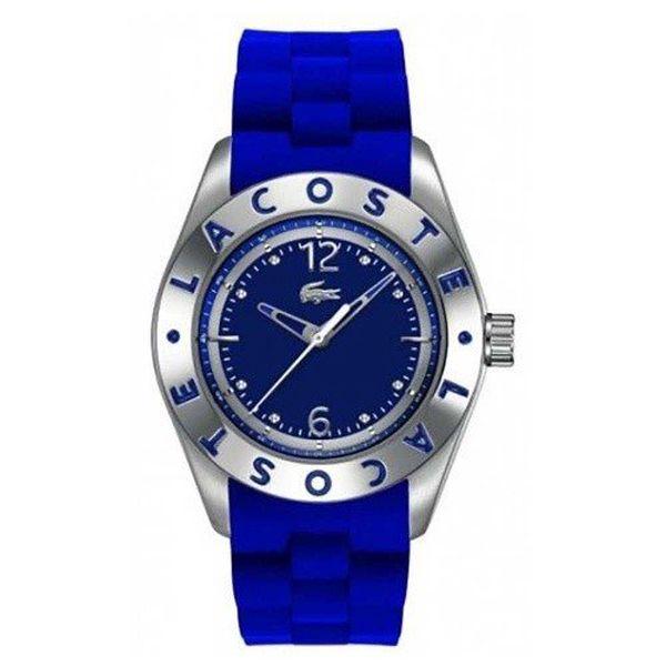 Dámské modré hodinky se silikonovým páskem Lacoste