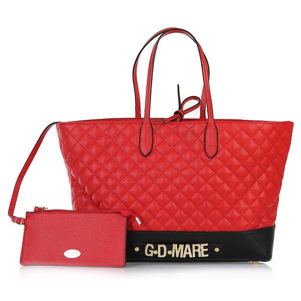 Dámská červená prošívaná kabelka s odepínací kapsičkou Giorgio di Mare