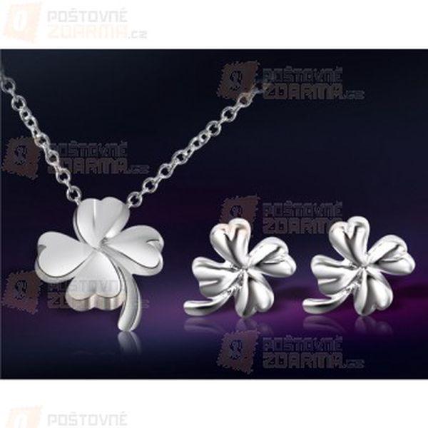 Sada šperků ve tvaru čtyřlístku a poštovné ZDARMA! - 9999916596
