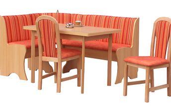 Moderní rohová lavice v barvě olše PRAG