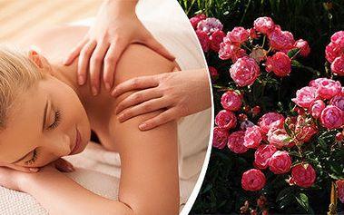 Valentýnská růžová masáž