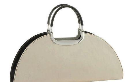 Dámská krémová kabelka s tmavými prvky Classe Regina