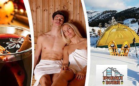 Netradiční zážitek - 1 noc pro 2 osoby ve špičkovém stanu v 1313 m.n.m. v Krkonoších! V ceně speciální stany i spacáky určené pro polární expedice, včetně vydatné snídaně, svařáku, čaje i sauny na zahřátí! Dopřejte si nevšední outdoorový zážitek!