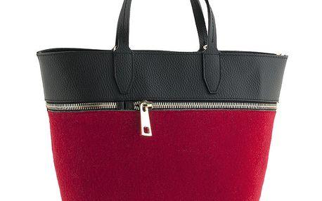 Dámská červená kabelka se zipem Classe Regina