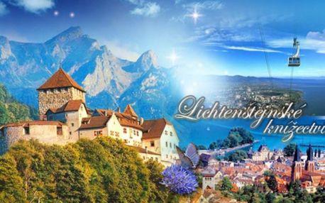 3denní POZNÁVACÍ ZÁJEZD do Lichtenštejnského knížectví pro 1 osobu! DOPRAVA autobusem, služby PRŮVODCE!