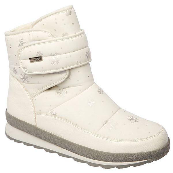 Dámské bílé boty s vločkami Keddo