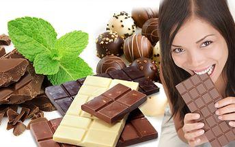 KURZ VÝROBY vlastních PRALINEK, LANÝŽŮ a TABULKY ČOKOLÁDY! 4 hodiny plné čokoládové vášně!