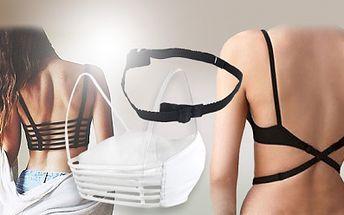 KORZETOVÝ TOP pod šaty a trička s odhalenými zády nebo popruh na prodloužení podprsenky!
