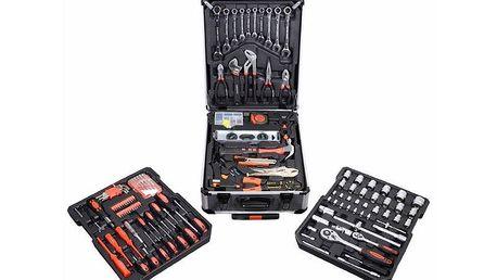 Praktický hliníkový kufr, včetně 186 dílů kvalitního nářadí