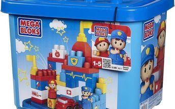 Maxi stavebnice v plastovém kbelíku Záchranné centrum
