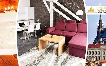 Pobyt v designovém apartmánu v centru Brna