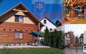 Stylové ubytování v Podhájské v krásné dřevěnici Zrub - 4denní pobyt pro 2, 3 nebo 4 osoby na Slovensku. Naberte síly v nejznámějším termálním koupališti na Slovensku s přáteli nebo s rodinou - od ubytování jen 10 minut pěšky!