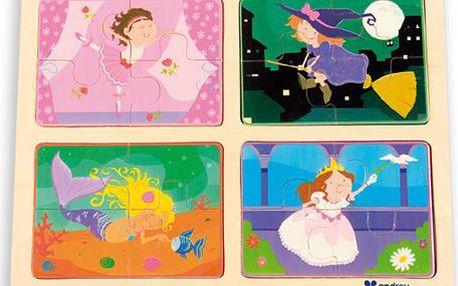 ANDREU Toys Puzzle pro holčičky