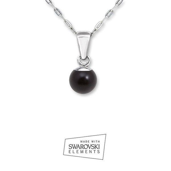 Náhrdelník s černou perlou Swarovski Elements