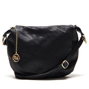 Dámská černá kožená kabelka přes rameno Roberta Minelli