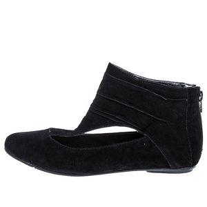 Dámské černé boty se zipem na patě 1to3