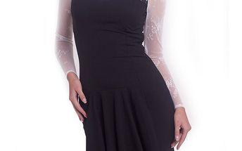 Dámské černo-bílé šaty s mašličkou Arefeva
