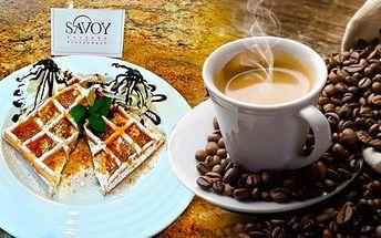 Brno - Vynikající snídaně pro 1 osobu v Kavárně SAVOY v Brně! Začněte den s vynikající kávou a lahodnými domácími vaflemi s javorovým sirupem a ořechy v příjemné kavárně v naprostém centru města!!