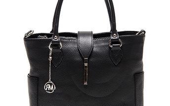 Dámská černá kabelka s bočními kapsami Roberta Minelli