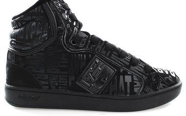 Dámské černé vysoké boty Baby Phat s nápisy