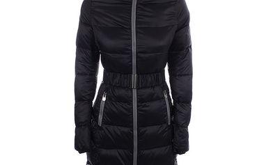 Dámský prošívaný černý kabát B.style