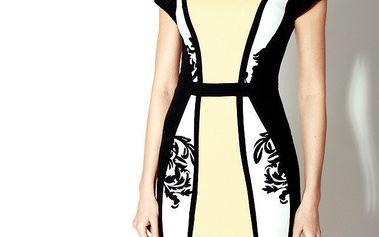 Dámské černo-žluté šaty Rylko