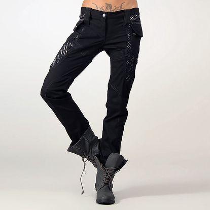 Dámské černé kalhoty s kapsami Angels Never Die