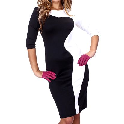 Dámské černo-bílé šaty Nelita