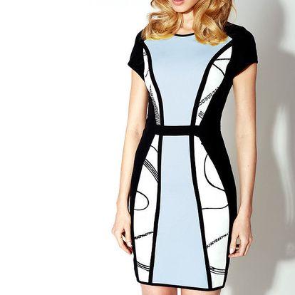 Dámské černo-modré šaty Rylko