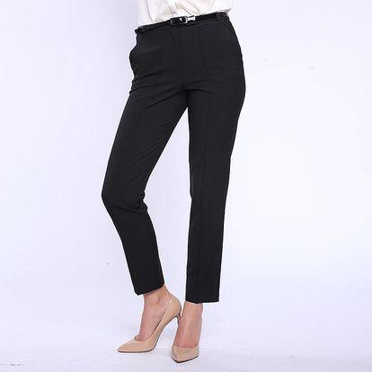 Dámské černé kalhoty s puky Melli London