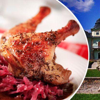 Pečená husa v Manětíně - jen tento víkend