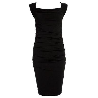Dámské černé šaty s průstřihem na zádech CeMe London