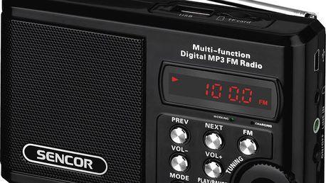 Přenosný radiopřijímač s MP3 přehrávačem Sencor SRD 215