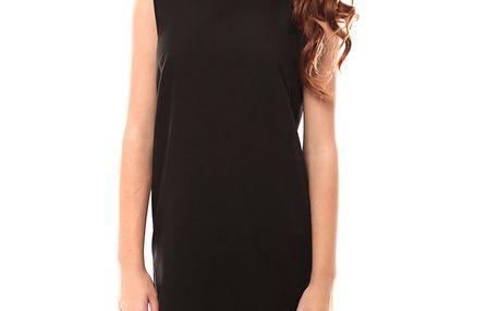 Dámské černé šaty s ozdobnými ramínky My Little Poesy